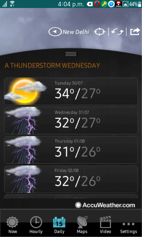 AccuWeather–Weather for Life-Tizen App -
