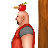 shooting apple on head