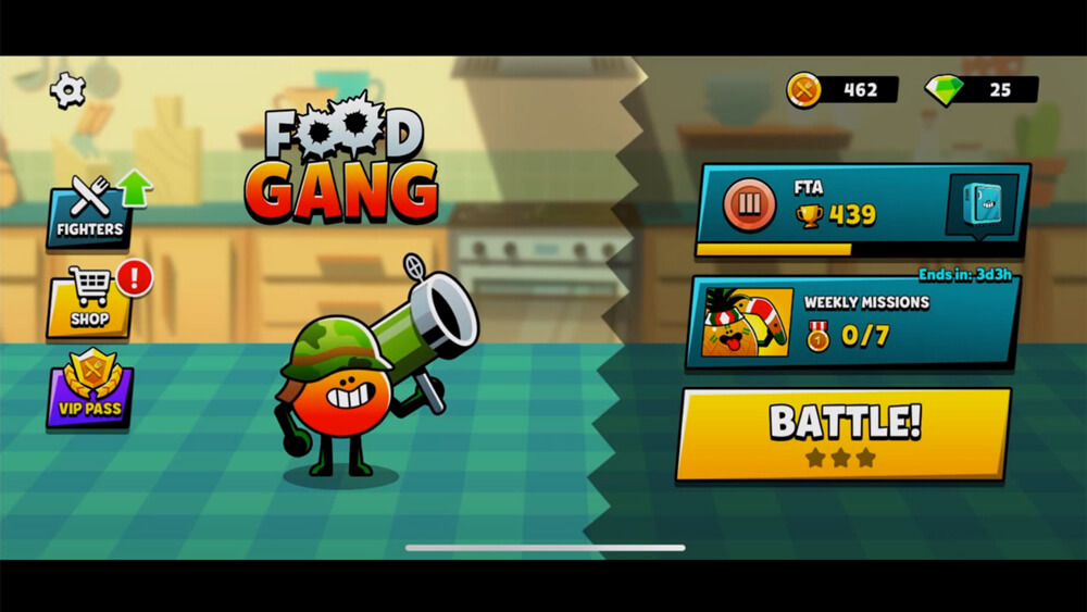 Food Gang-An Online Multiplayer Game for iPhone iPad and Android Mobiles