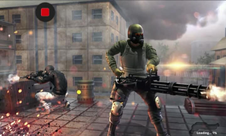 Modern Counter Attack Action Game for Tizen Mobiles