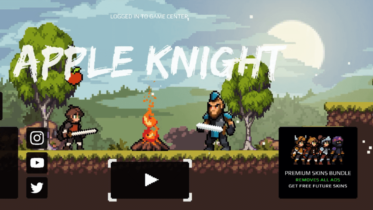 Apple Knight Mobile Game Home Screen
