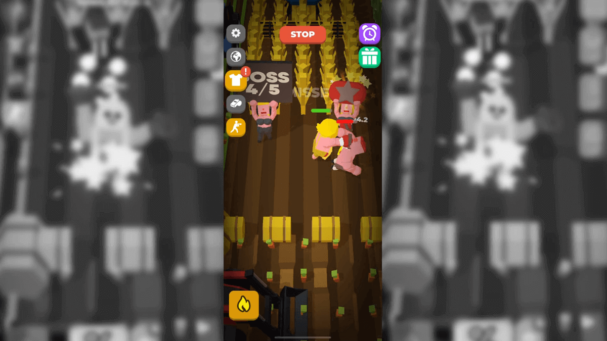 Idle Boxing Android Game Fight Screen