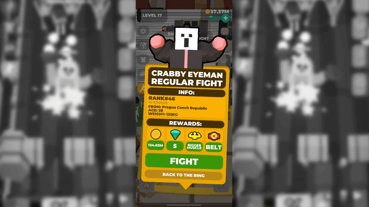Idle Boxing Android Game Fight Screen 2
