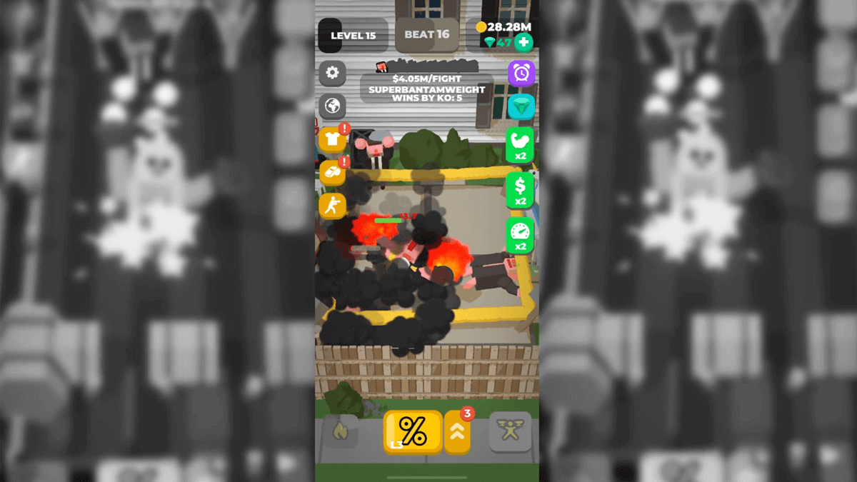 Idle Boxing Android Game Power Up