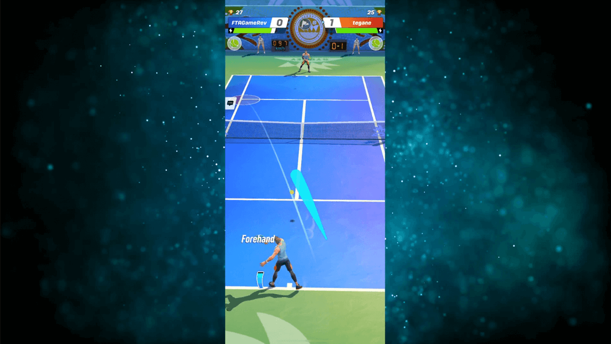 tennis clash mobile game player shot