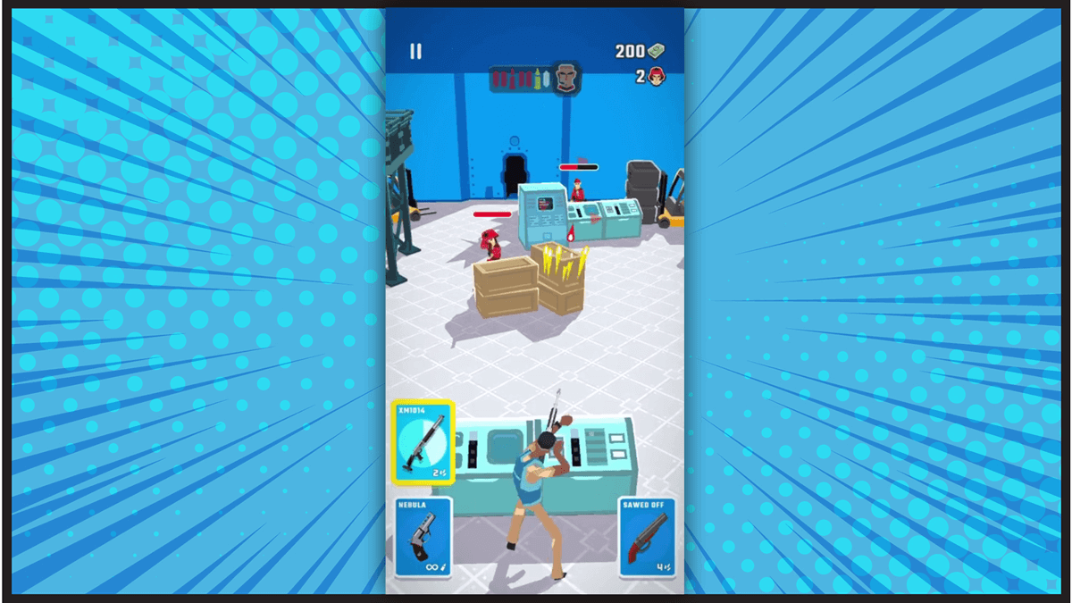 Agent Action Android Game Fight Scene