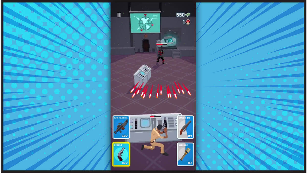 Agent Action Android Game Bullets Firing
